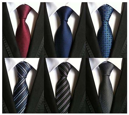e24178c5a7c3 WeiShang Lot 6 PCS Classic Men's 100% Silk Tie Necktie Woven JACQUARD Neck  Ties (