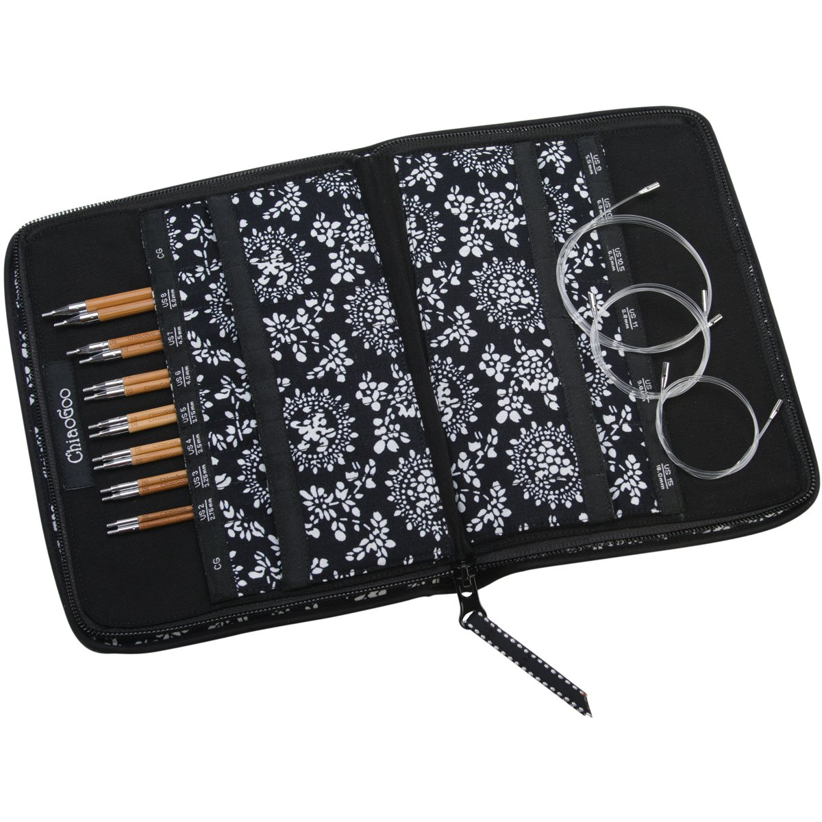 ChiaoGoo Spin Interchangeable Knitting Needle Set, Small 2500-S