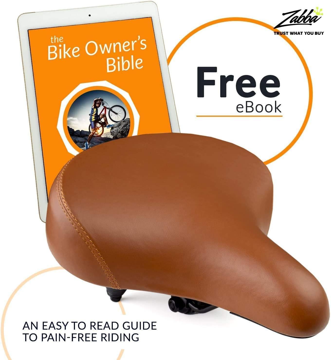 Beach Cruiser Bicycle Bike Saddle Seat Diamon wed w Rear Guard Brown 270 x 255mm