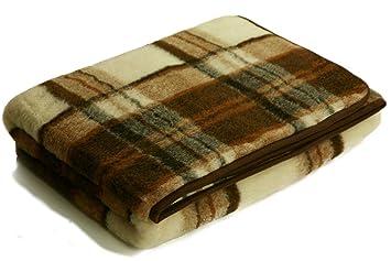Wolldecken Schurwolle Karo 100 Merino Schafwolle Ca 140 X 200 Cm