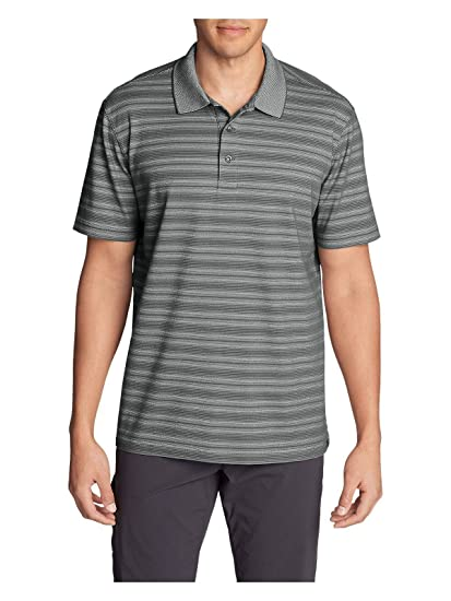 557ef3328f1 Eddie Bauer Men's Voyager 2.0 Short-Sleeve Polo Shirt - Relaxed Fit, Stripe  at Amazon Men's Clothing store: