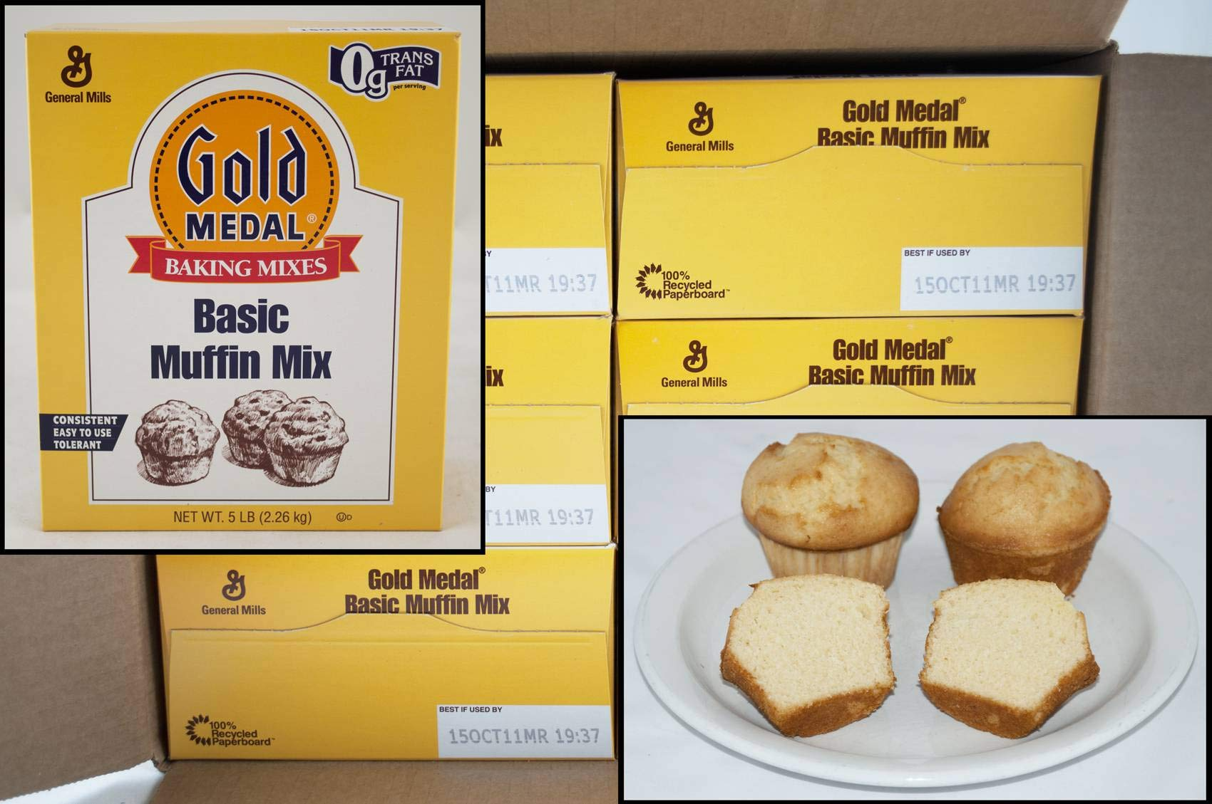 Gold Medal Basic Muffin Mix 6 Case 5 Pound