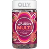 OLLY Perfect Women's Multivitamin Gummy Supplement with Biotin & Folic Acid, Blissful Berry, (100 Day Supply) (200…