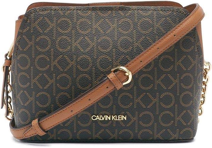 Calvin Klein Hailey Signature Triple Compartment Chain Crossbody