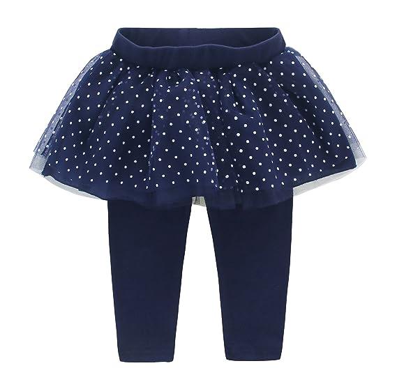 DEBAIJIA Leggings Pantalones con Falda De Bebé niñas con Polka del ...