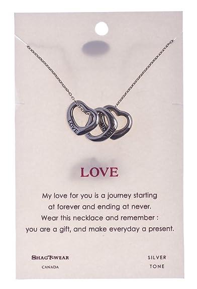 Amazon Com Shagwear Friendship And Love Inspirations Quote Pendant