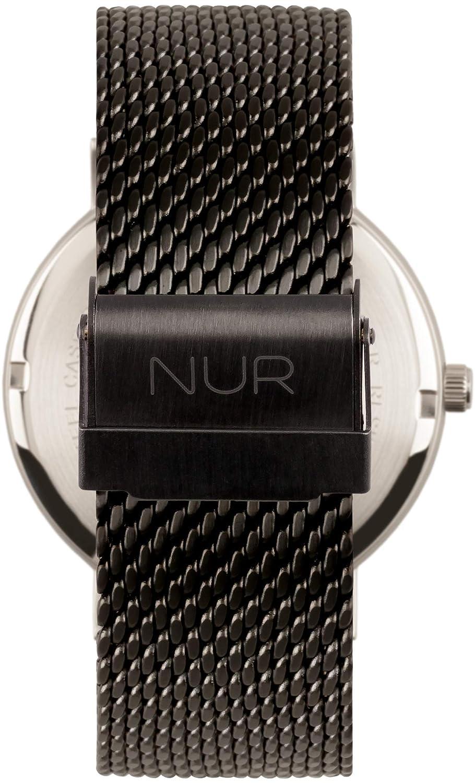 Nursoul Chain – klocka i rostfritt stål för viktiga tillfällen. Armband i rostfritt stål svart