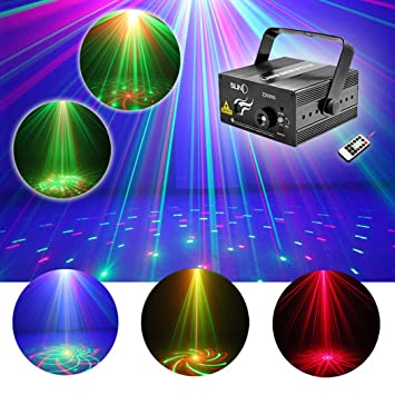 Amazoncom SUNY Xmas Laser Light Gobo Red Green RG Projector - Laser lights for bedroom