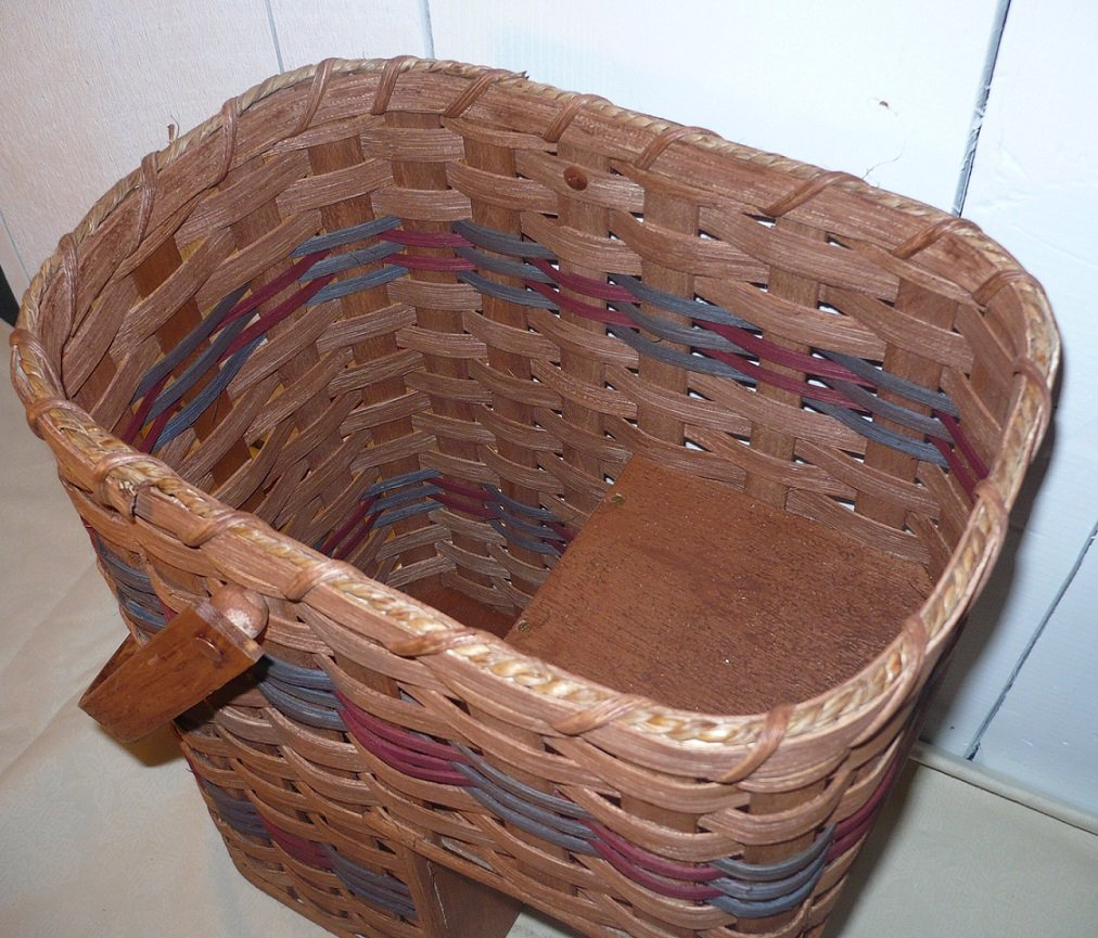 Amish Handmade Stair Step Basket (Small). This Handmade Basket Enhances Any Country Home Decor and Also Makes Carrying Items up and Down the Stairs Easier. You Will Love It! Measures: Top Opening 12'' X 9'' - 14.5'' High - 7'' From Bottom of Basket to Bottom