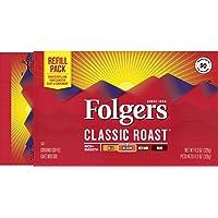 Folgers Classic Roast Medium Roast Ground Coffee Brick, 11.3 Ounces (Pack of 12)