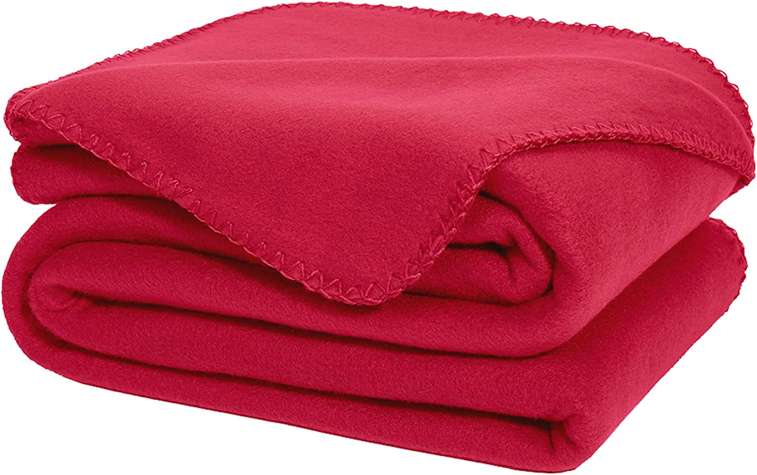 DOZZZ Oversize Flannel Polar Fleece Throw Blanket 70 x 50 Fuzzy Plush Microfiber for Couch Cover Sofa Chair Bed Bungundy Red