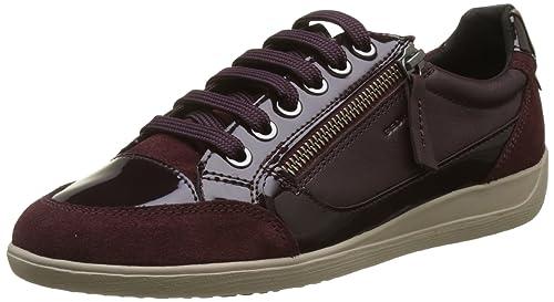 Geox D Myria a, Zapatillas para Mujer, Rojo (Dk Burgundy), 35 EU