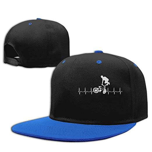 1b0df7e9a5a Boys Girls Adjustable Fashion Hat Bicycle Heartbeat Golf Hats Blue at  Amazon Men s Clothing store