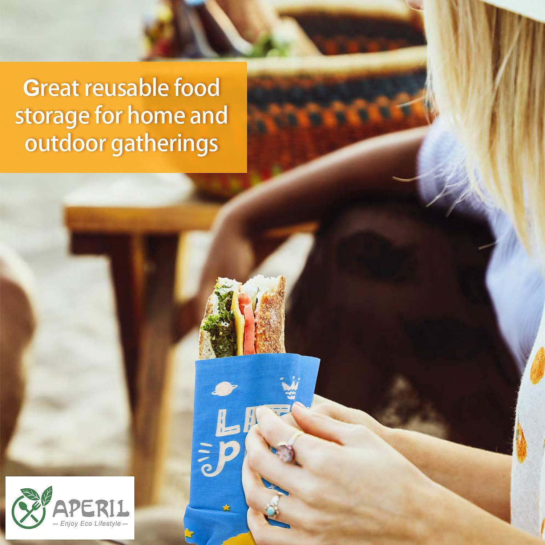 4 pack envolturas de alimentos de cera de abejas- ecol/ógica Envoltura de cera de abejas reutilizable 1 peque/ña org/ánica 2 medianas alternativa a las bolsas de pl/ástico-1 grande