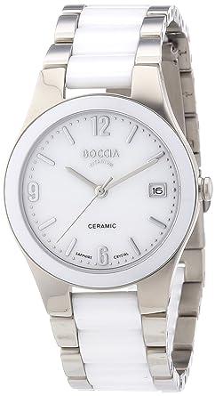 Boccia damen armbanduhr analog quarz keramik 3215 01