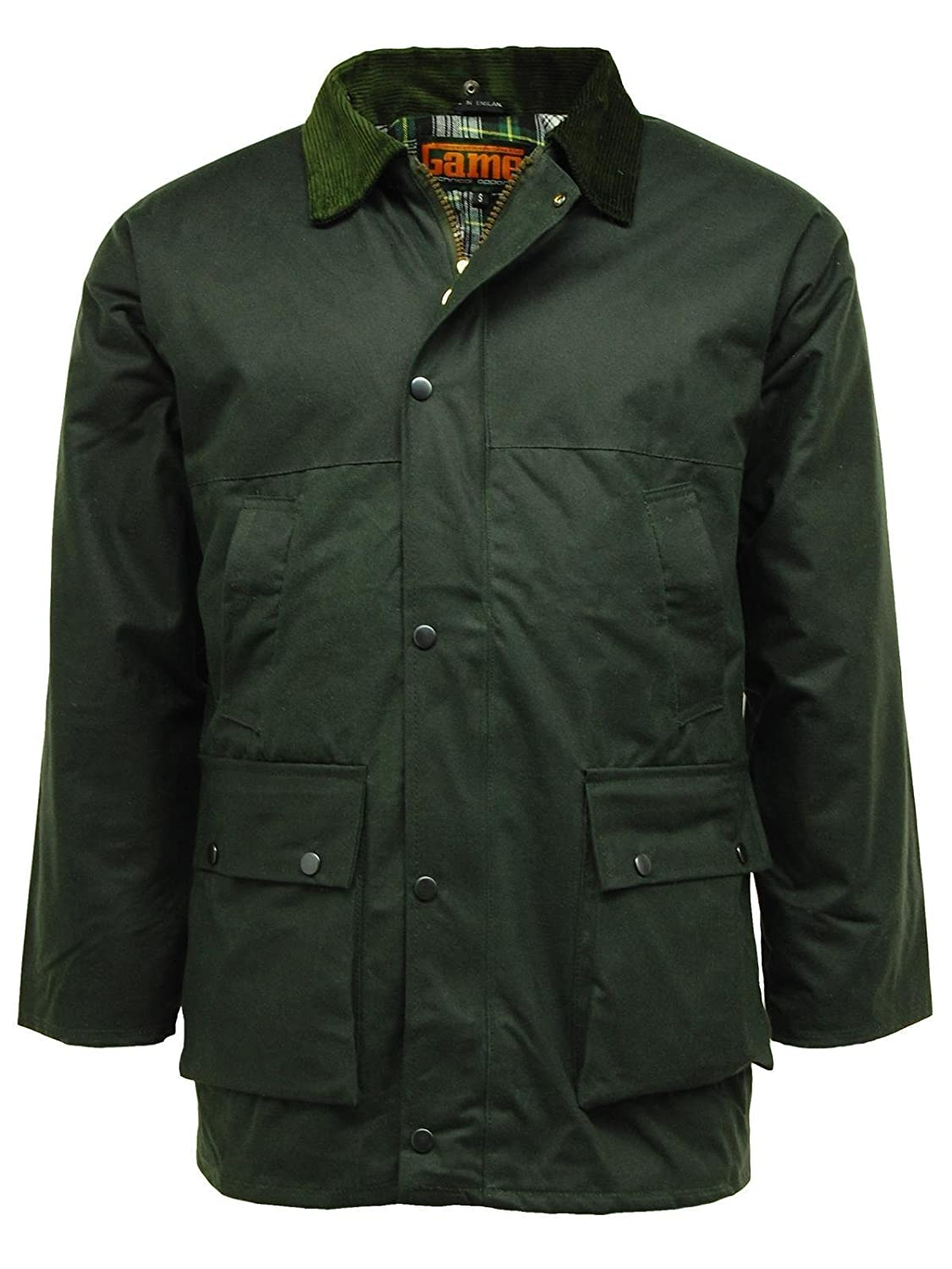 Game British Quilted Padded Country Wax Cotton Rain Jacket