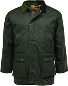 Game Classic Padded Wax Jacket up to 5XL Olive