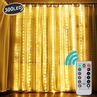 Lieblich OOTOO Lichtervorhang LED Lichterketten Lichterkettenvorhang Warmweiß Innen  Außen Für Party Schlafzimmer Deko IP65 Wasserfest 8 Modi: Amazon.de:  Beleuchtung