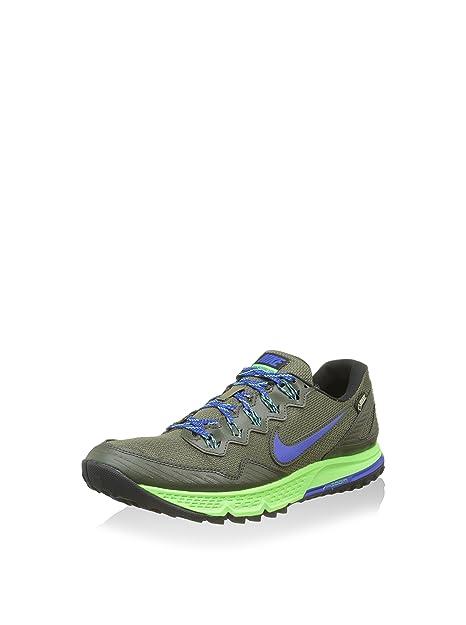 99fddf0a7a683 Nike Air Zoom Wildhorse 3 GTX Men s Trail Runners Khaki Green Blue 805569  300 Size 10  Amazon.ca  Shoes   Handbags
