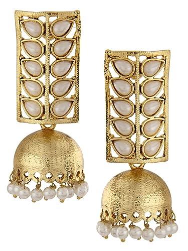96b32e61f17 Shining Diva Traditional Pearl Jewellery Stylish Fancy Party Wear  Jhumki Jhumka Earrings For Women and