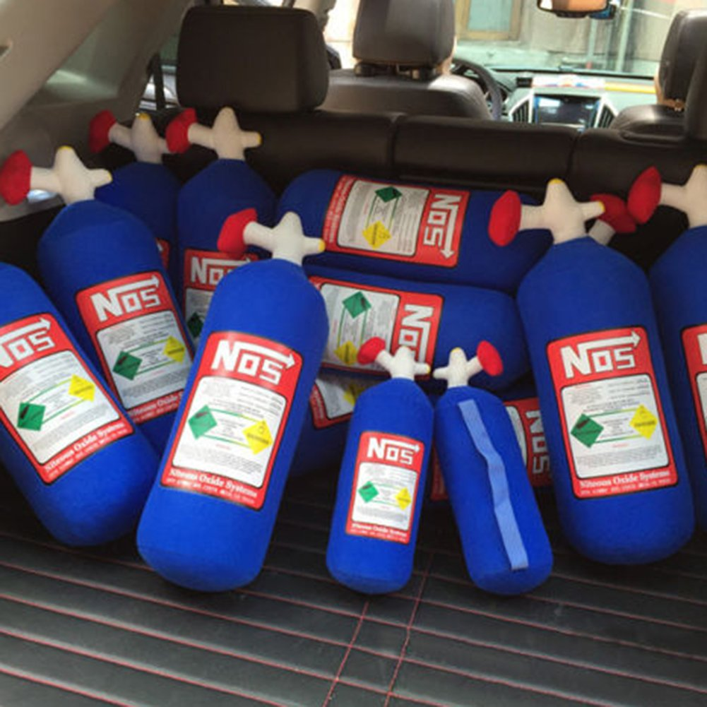 Amazon.com: TRENTON NOS Nitrous Oxide Bottle Tank Plush Throw Pillow for Car Travel: Home & Kitchen