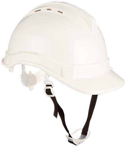 Silverline 868532 - Casco de seguridad (Blanco)