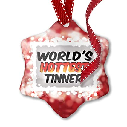 Christmas Tinner.Christmas Ornament Worlds Hottest Tinner Red Neonblond