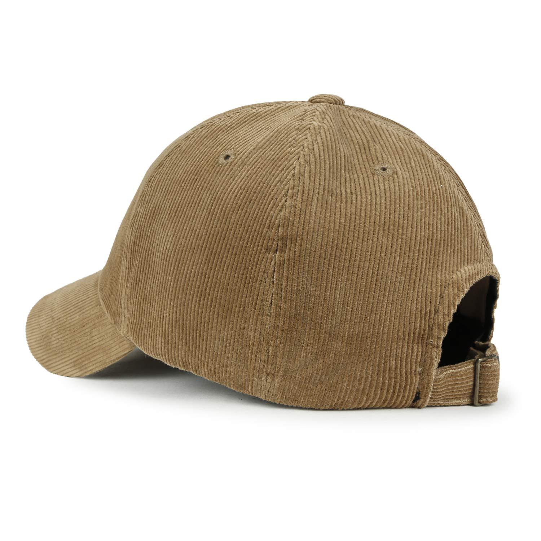 ililily Solid Color Baseball Cap Strapback Corduroy Adjustable Trucker Hat