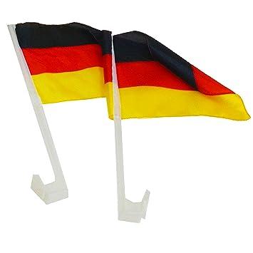 Fußball 2 Stück Autoflagge Deutschland