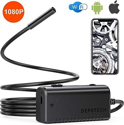 Depstech 1080p Wifi Endoskopkamera Handy Endoskop 2 0 Megapixel Hd Rohrkamera Doppelantennen Halbsteife Kabel Inspektionskamera Ip67 Wasserdichte Für Android Ios Smartphone Windows Tablet 3 5m Auto