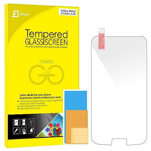 131 opinioni per Note 2 Pellicola Protettiva, JETech Premium in Vetro Temperato per Samsung