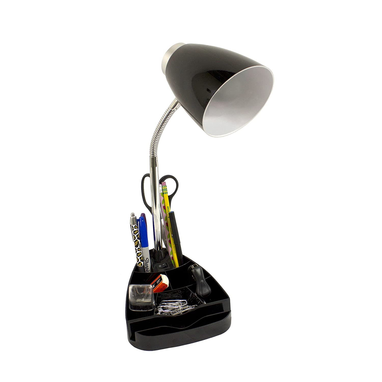 limelights ld1002 blk gooseneck organizer desk lamp with ipad