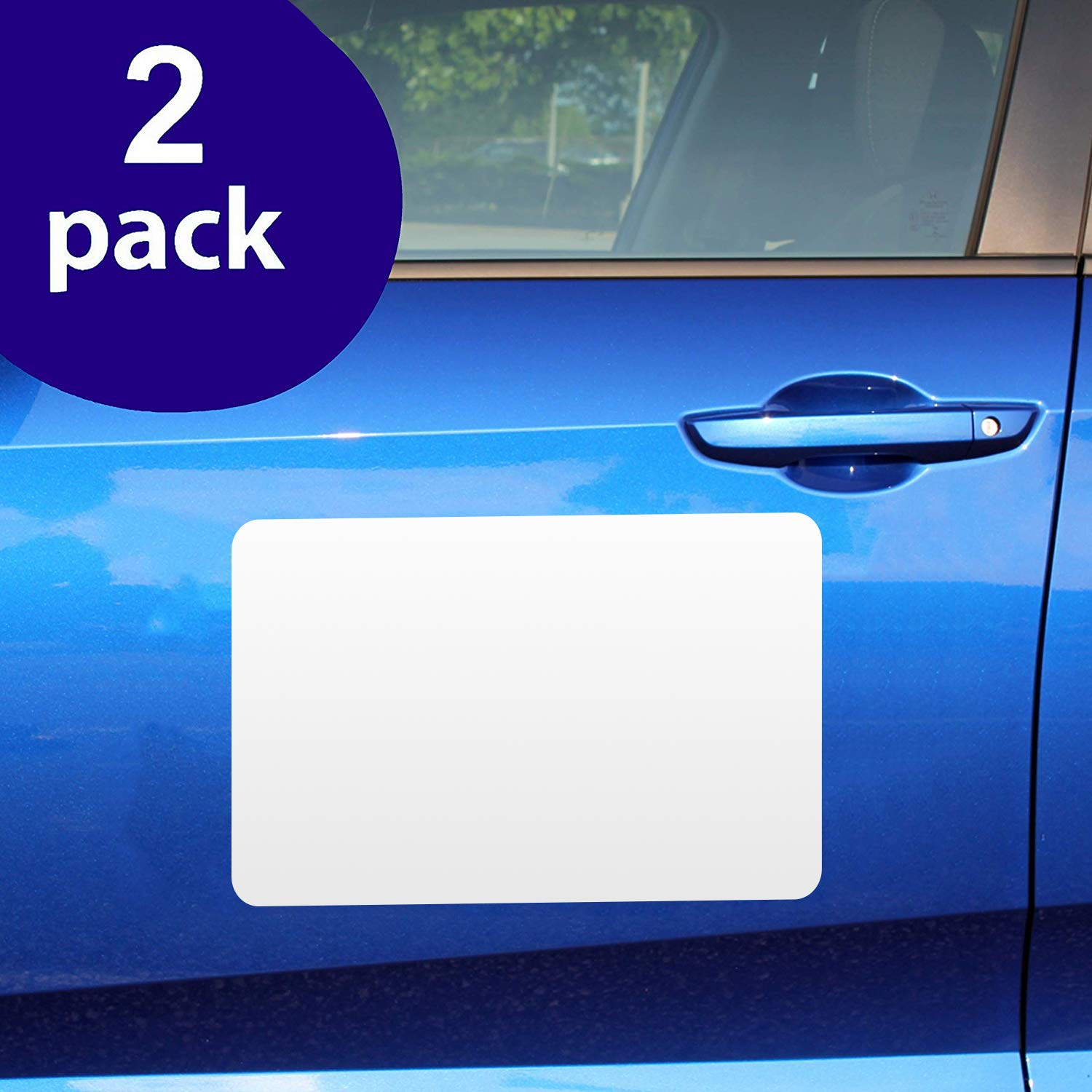for HOA Cover Company Logo 2 Pack Perfect Magnet for Car to Advertise Business Small Rounded Corners Blank Car Magnet Set New! Prevent Car Scratches /& Dents Blank Magnets