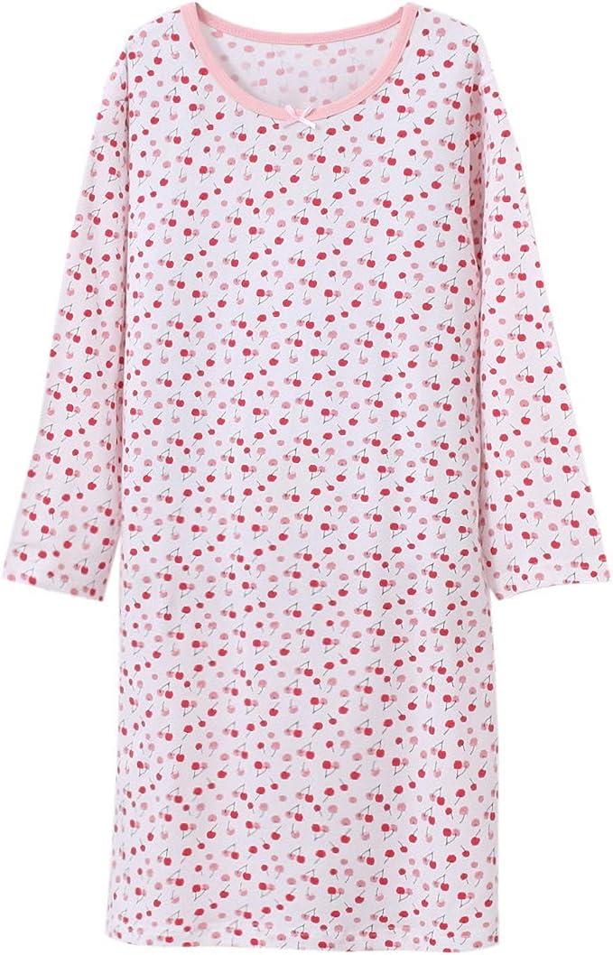 BLOMDE Camisones para niña Camisones Floral Camisones de algodón ...