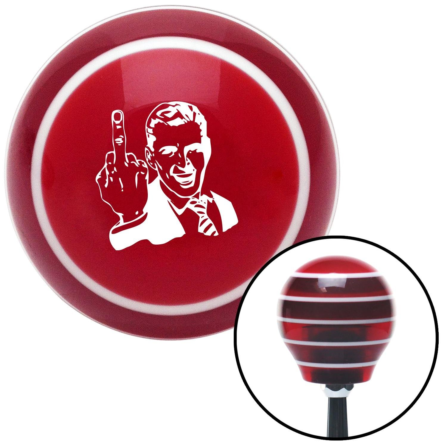 American Shifter 103477 Black Shift Knob with M16 x 1.5 Insert Red Serpent