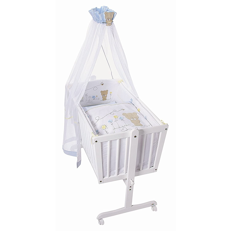 Easy Baby Himmelset für Wiegen Honey bear blue 480-41