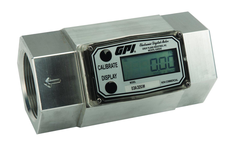 GPI 113900-9502, 03A32GM Aluminum Turbine Fuel Meter, 2-Inch FNPT, 30-300 GPM