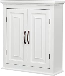 Elegant Home Fashions St. James Bathroom Cabinet, White