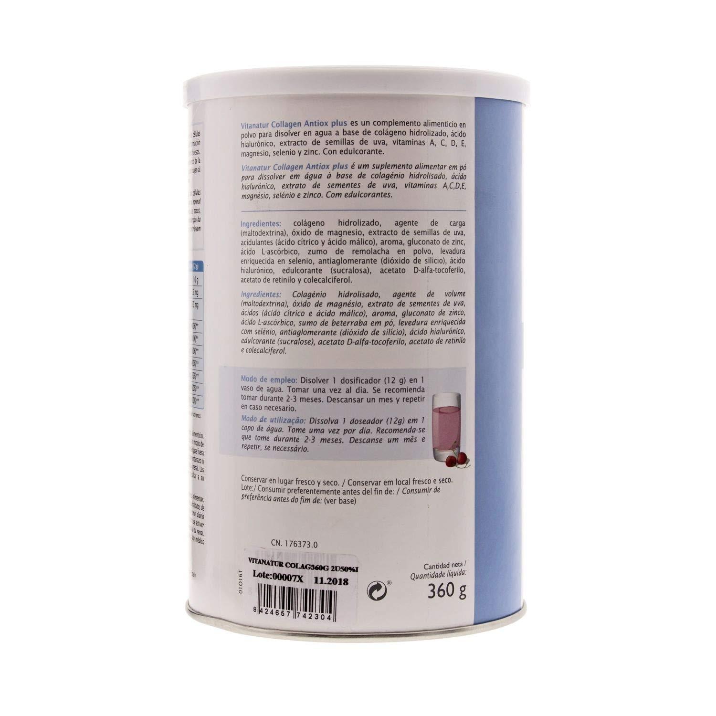 Amazon.com: Vitanatur Collagen Antiox Plus 360g - Bones and Joints Reinforcement - Body Care - Collagen Supplement: Health & Personal Care