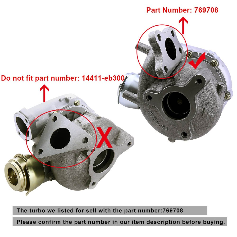 Amazon.com: maXpeedingrods GT2056V 767720 Turbo Charger for Nissan Navara Pathfinder 2.5L YD25DDTI 2006- Turbocharger 767720-0001 769708-0001: Automotive