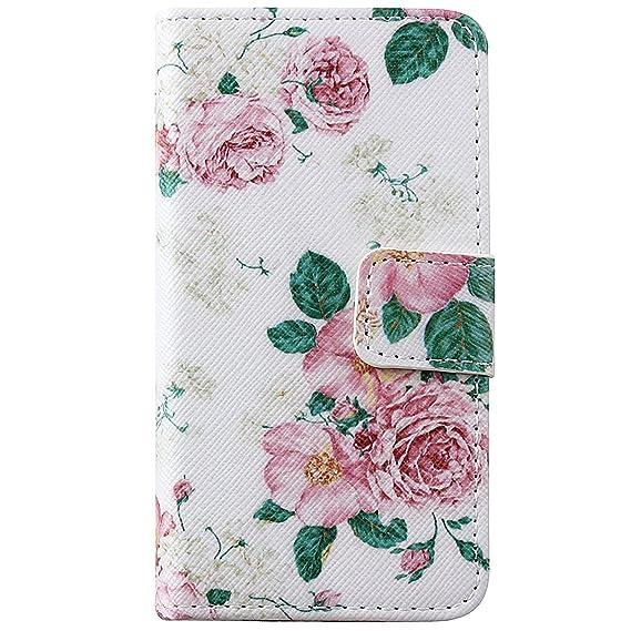 ISAKEN Kompatibel mit iPhone 4S Hülle, iPhone 4S Schutzhülle Muster Druck Flip PU Leder Tasche Case Hülle im Bookstyle mit St