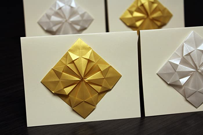 Amazon Origami Christmas Cards Set Of 4 Modern Non