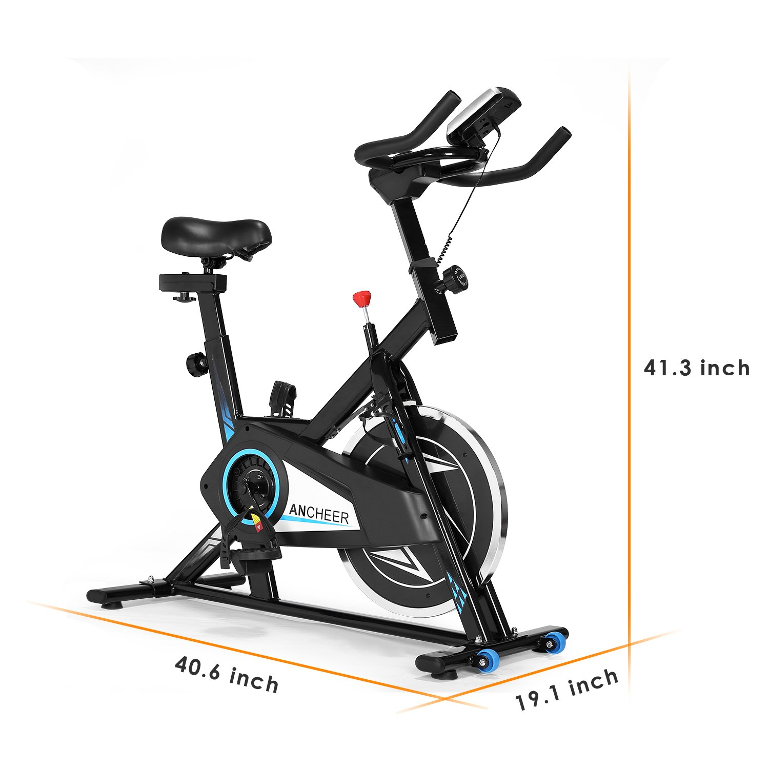 ANCHEER Indoor Cycling Bike, Smooth Quiet Belt Drive Indoor Stationary Exercise Bike