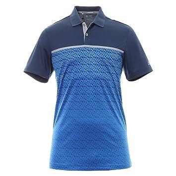 Adidas Golf 2017 Climacool Gradient Tri-Geo Print Polo Mens Performance Golf  Polo Shirt Blast