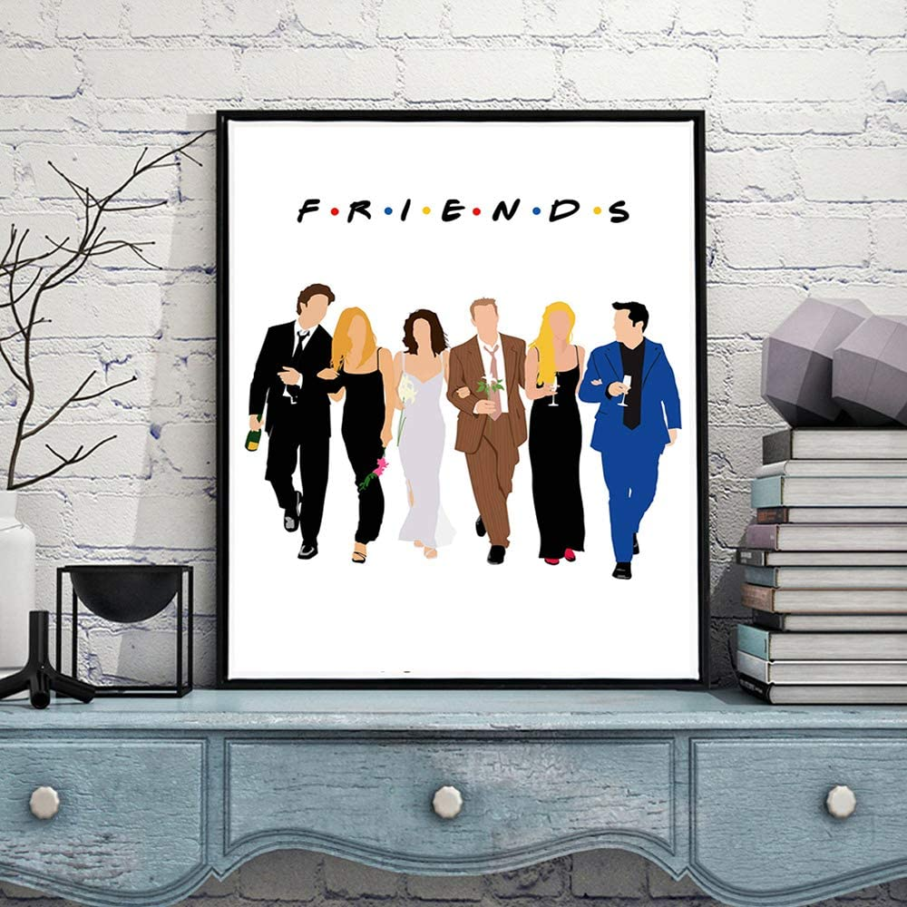 Modular Pictures Friends TV Show Canvas HD Painting Print Wall Artwork Modern Nordic Watercolor Poster Hallway Home Decor No Frame