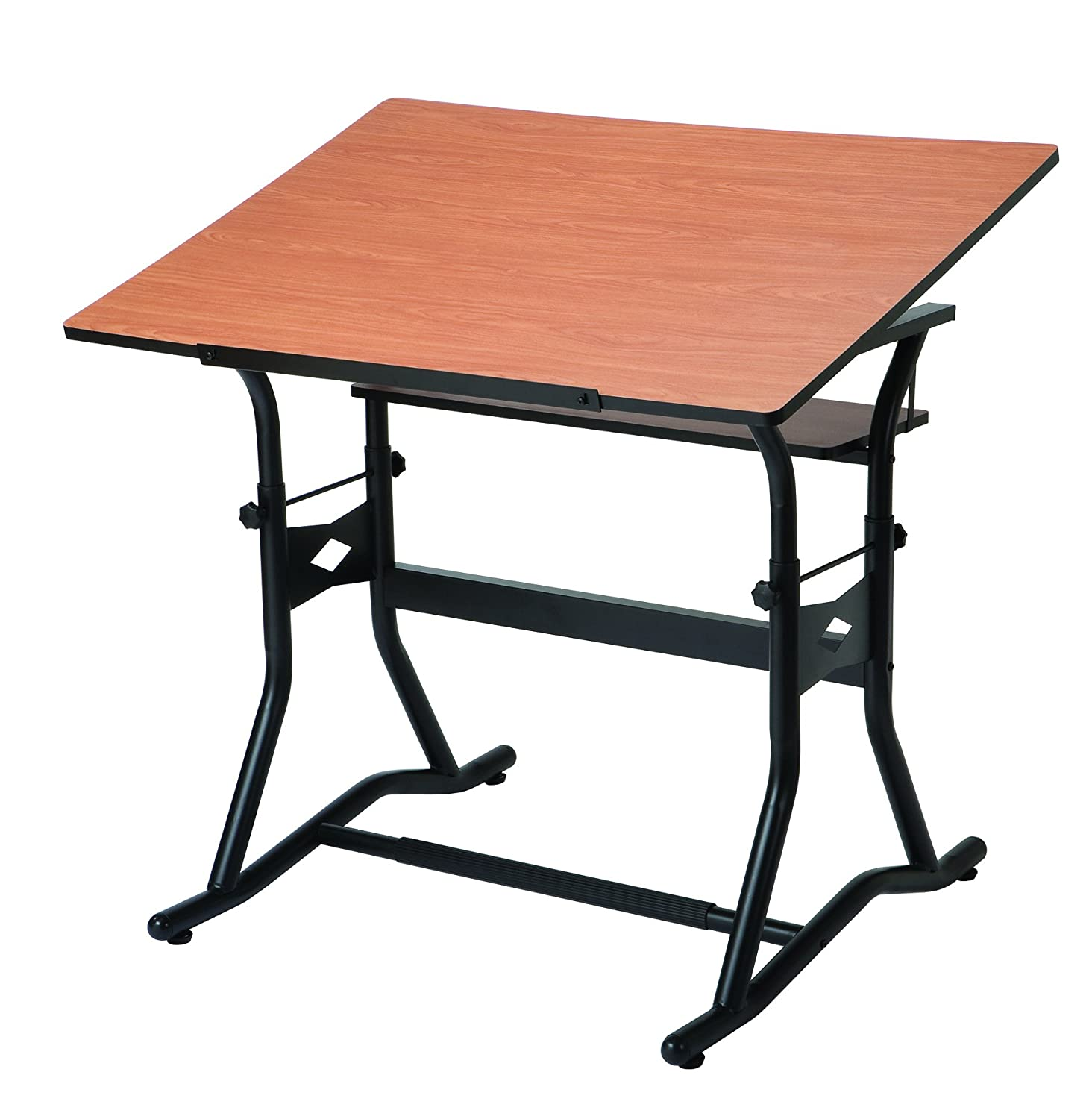 Alvin CM50-3-WBR CraftMaster III Drafting - Drawing - and Art Table - Black Base Cherry Top 30 inches x 42 inches