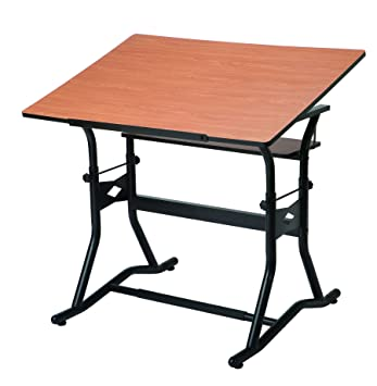 Alvin CraftMaster III Drafting, Drawing, And Art Table, Black Base Cherry  Top 30u0026quot
