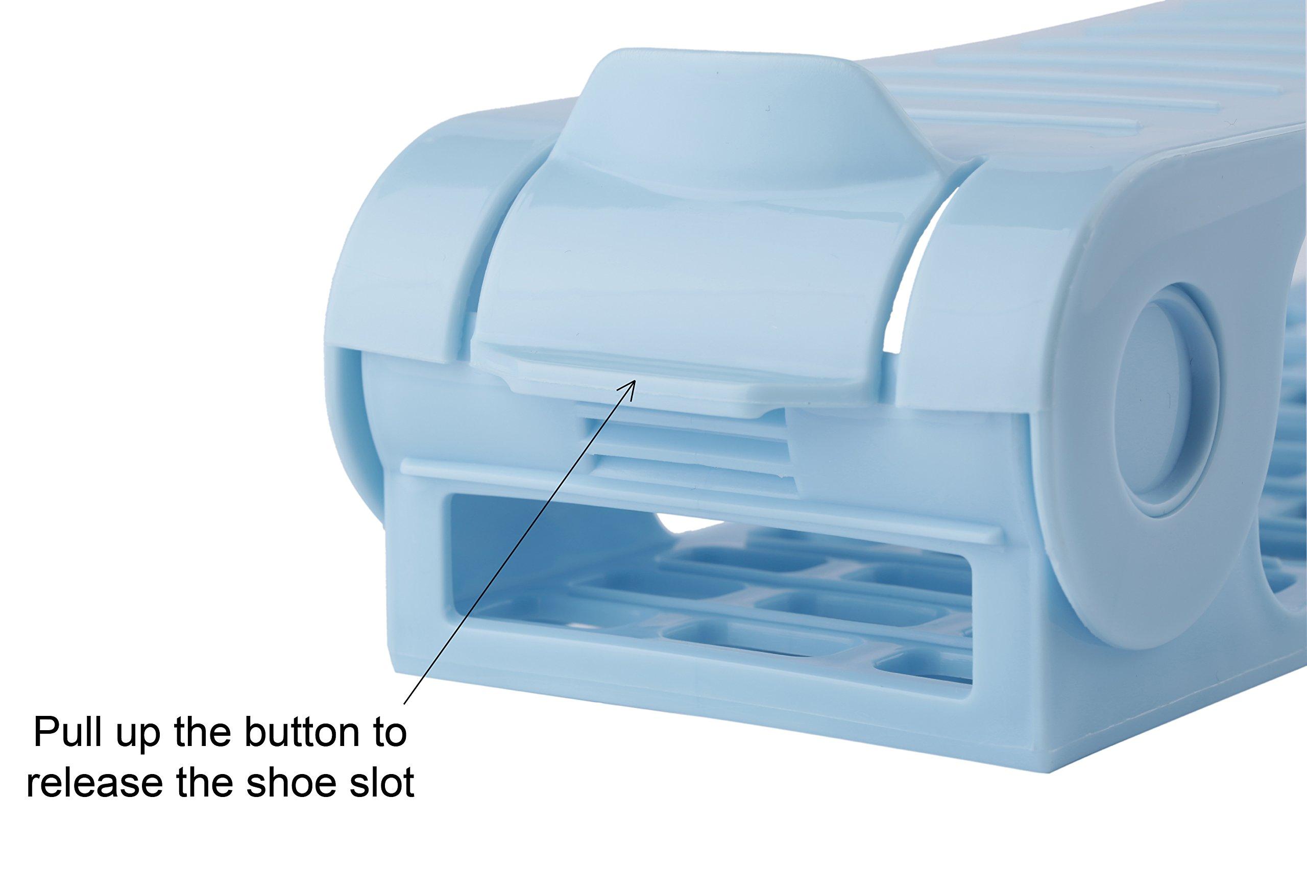 Mouselemur Shoe Slots Space Saver Shoe Stand Organizer | Adjustable Shoe Rack 6 Piece Set by Mouselemur (Image #4)