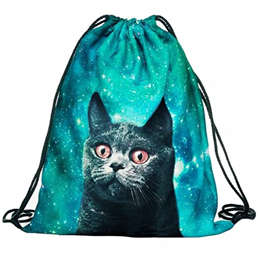 Fabal Drawstring Bag cat mochila 3D Printing Sac A Dos School Bags for Teenage Girls Mochilas