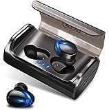 【2019進化版 Bluetooth5.0 自動ペアリング】 Bluetooth イヤホン 両耳 95時間連続駆動 Hi-Fi高音質 IPX7完全防水 自動ON/OFF Siri対応 AAC8.0/CVC8.0ノイズキャンセリング対応 音量調整 両耳通話 マイク内蔵 左右分離型 EDRが搭載 技適認証済 ブルートゥース スポーツイヤホン iPhone/ipad/Android対応